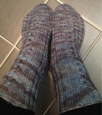 Katniss socks (aka pölsockarna)